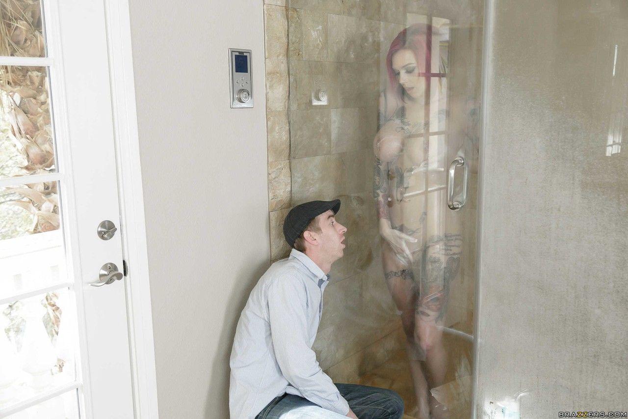 Sexo no banheiro com fotos de ruiva peituda gostosa